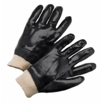 West Chester® PVC Dipped Glove with Interlock Liner and Smooth Finish - Knitwrist  (#1007)