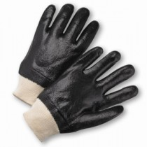 West Chester® PVC Dipped Glove with Interlock Liner and Rough Finish - Knitwrist  (#1007RF)