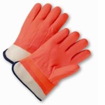 Safety Orange PVC Coated Gloves (#1017ORF)