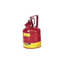 Justrite Type I Safety Can, 1 gallon, Red (#10301)