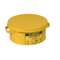 Justrite Bench Can For Solvents, Steel, 1 Gallon, Yellow (#10385)