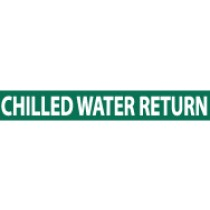 Chilled Water Ret. Pressure-Sensitive Vinyl Pipe Marker (#1047G)