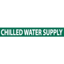 Chilled Water Supply Pressure-Sensitive Vinyl Pipe Marker (#1048G)