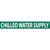 Chilled Water Supply Pressure-Sensitive Vinyl Pipe Marker (#1048G)