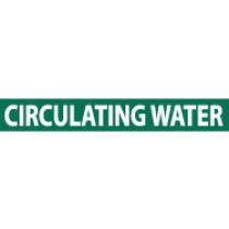 Circulating Water Pressure-Sensitive Vinyl Pipe Marker (#1051G)