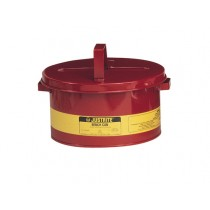 Justrite Bench Can For Solvents, Steel, 2 Gallon, Red (#10575)