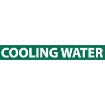 Coooling Water Pressure-Sensitive Vinyl Pipe Marker (#1072G)