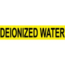 Deionized Water Pressure-Sensitive Vinyl Pipe Marker (#1079Y)