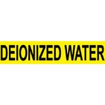 Deionized Water Pressure-Sensitive Vinyl Pipe Marker (#1079Y)