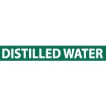 Distilled Water Pressure-Sensitive Vinyl Pipe Marker (#1083G)