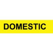 Domestic Pressure-Sensitive Vinyl Pipe Marker (#1084Y)