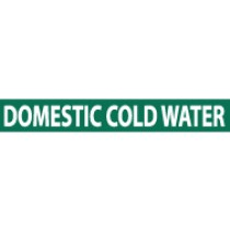 Domestic Cold Water Pressure-Sensitive Vinyl Pipe Marker (#1085G)