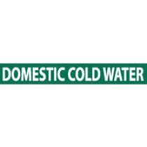 Domestic Cold Water Pressure-Sensitive Vinyl Pipe Marker (#1085G)