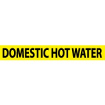 Domestic Hot Water Pressure-Sensitive Vinyl Pipe Marker (#1086Y)
