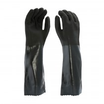 "West Chester® PVC Dipped Glove with Interlock Liner and Rough Finish - 18""  (#1087RF)"