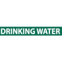 Drinking Water Pressure-Sensitive Vinyl Pipe Marker (#1089G)