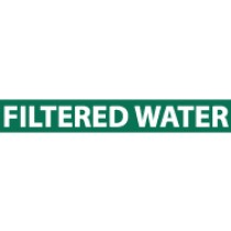 Filtered Water Pressure-Sensitive Vinyl Pipe Marker (#1104G)