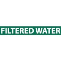 Filtered Water Pressure-Sensitive Vinyl Pipe Marker (#1104G)