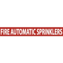 Fire Automatic Sprinklers Pressure-Sensitive Vinyl Pipe Marker (#1105R)