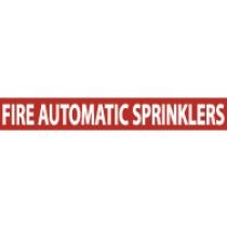 Fire Automatic Sprinklers Pressure-Sensitive Vinyl Pipe Marker (#1105R)