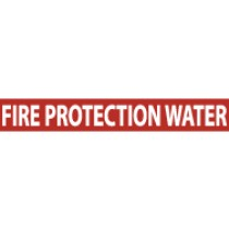 Fire Protection Water Pressure-Sensitive Vinyl Pipe Marker (#1107R)