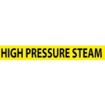 High Pressure Steam Pressure-Sensitive Vinyl Pipe Marker (#1132Y)