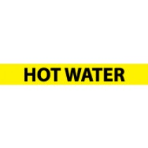 Hot Water Pressure-Sensitive Vinyl Pipe Marker (#1136Y)