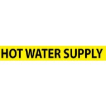 Hot Water Supply Pressure-Sensitive Vinyl Pipe Marker (#1138Y)