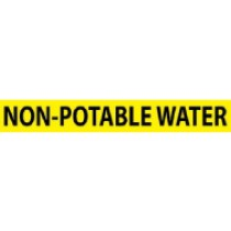 Non-Potable Water Pressure-Sensitive Vinyl Pipe Marker (#1175Y)