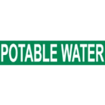 Potable Water Pressure-Sensitive Vinyl Pipe Marker (#1192G)