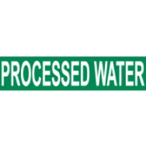 Processed Water Pressure-Sensitive Vinyl Pipe Marker (#1197G)