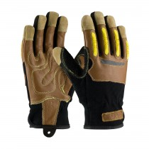 Maximum Safety® Reinforced Goatskin Leather Palm Glove with Leather Back, Kevlar® Lining and TPR Molded Knuckle Guards  (#120-4100)