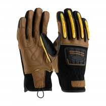 Maximum Safety® Reinforced Goatskin Leather Palm Glove with Leather Back, Kevlar® Lining and TPR Molded Knuckle and Dorsal Guards  (#120-4150)