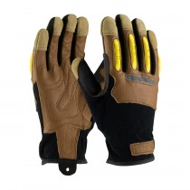 Maximum Safety® Reinforced Goatskin Leather Palm Glove with Leather Back and TPR Molded Knuckle Guards  (#120-4200)