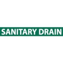 Sanitary Drain Pressure-Sensitive Vinyl Pipe Marker (#1222G)