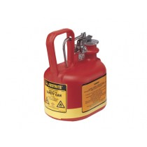 Justrite Type I Poly Safety Can, 0.5 gallon (#14065)