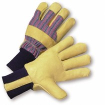 PIP® Pigskin Leather Palm Glove with Fabric Back & Positherm® Lining - Knitwrist (#1555)