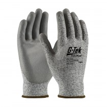 G-Tek® PolyKor® Seamless Knit PolyKor® Blended Glove with Polyurethane Coated Smooth Grip on Palm & Fingers  (#16-150)