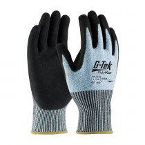 G-Tek® PolyKor® Seamless Knit PolyKor® Blended with Double-Dipped Nitrile Coated MicroSurface Grip on Palm & Fingers  (#16-330)