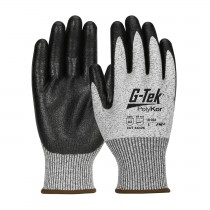 G-Tek® PolyKor® Seamless Knit PolyKor® Blended Glove with Nitrile Coated MicroSurface Grip on Palm & Fingers  (#16-333)