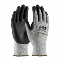G-Tek® PolyKor® Seamless Knit PolyKor® Blended Glove with Nitrile Coated Foam Grip on Palm & Fingers  (#16-334)
