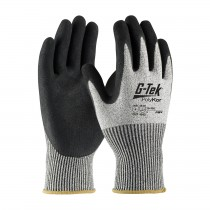 G-Tek® PolyKor® Seamless Knit PolyKor® Blended with Double-Dipped Nitrile Coated MicroSurface Grip on Palm & Fingers  (#16-350)