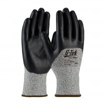 G-Tek® PolyKor® Seamless Knit PolyKor® Blended Glove with Nitrile Coated Foam Grip on Palm, Fingers & Knuckles  (#16-355)