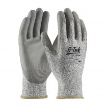 G-Tek® PolyKor® Seamless Knit PolyKor® Blended Glove with Polyurethane Coated Smooth Grip on Palm & Fingers  (#16-530)