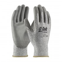 G-Tek® PolyKor® Industry Grade Seamless Knit PolyKor® Blended Glove with Polyurethane Coated Smooth Grip on Palm & Fingers - Bulk Pack  (#16-533)