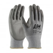 G-Tek® PolyKor® Seamless Knit PolyKor® Blended Glove with Polyurethane Coated Smooth Grip on Palm & Fingers  (#16-560)