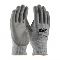 G-Tek® PolyKor® Industry Grade Seamless Knit PolyKor® Blended Glove with Polyurethane Coated Smooth Grip on Palm & Fingers - Bulk Pack  (#16-564)