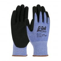 G-Tek® PolyKor® Seamless Knit PolyKor® Blended Glove with Nitrile Coated MicroSurface Grip on Palm & Fingers  (#16-635)
