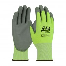G-Tek® PolyKor® Seamless Knit PolyKor® Blended Glove with Polyurethane Coated Smooth Grip on Palm & Fingers  (#16-645LG)