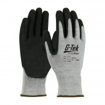 G-Tek® PolyKor® Seamless Knit PolyKor® Blended Glove with Double-Dipped Nitrile Coated MicroSurface Grip on Palm & Fingers  (#16-655)